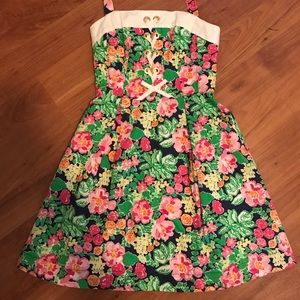 Lilly Pulitzer Floral Halter Dress Size 0